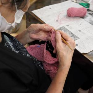 編みもの ~ モチーフ編み透かしバッグ ~