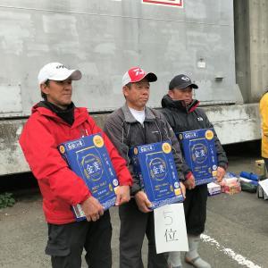 湘南鱚酔会・第5回湘南オープン大会で又も他力本願(誤用らしい)で優勝しました