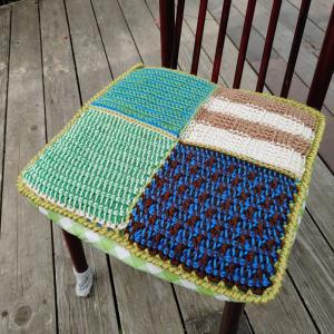 教室 新メニュー追加「アフガン編みで角座」