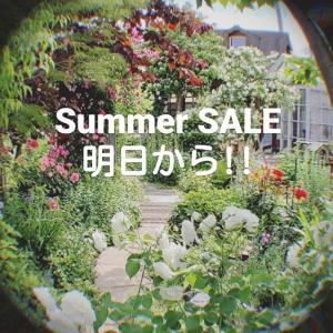 Summer SALE 明日から!!