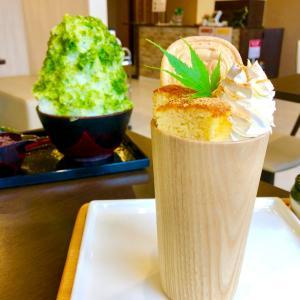 老舗和菓子屋さんのパフェとかき氷