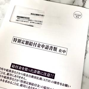10万円給付金申請書、とどきました