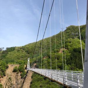 途中で引き返した吊り橋(汗)