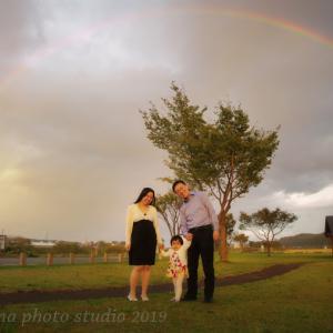 虹に祝福されて