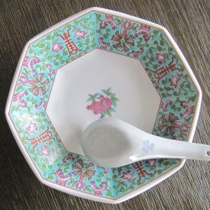 お気に入りの中華皿にて