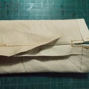 サイの親子の革人形を作る その172 船員バッグ
