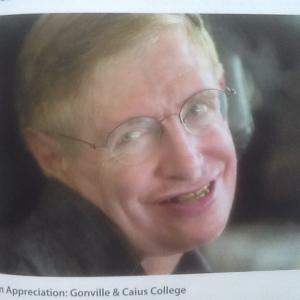 an appreciation (献辞for Hawking's accomplishments from Gonville & Caius))