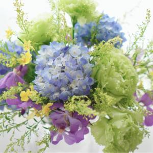 【フラワーライフセラピスト/花育士資格認定】ラストはブルー色の紫陽花で。