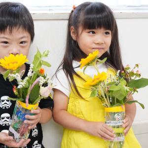 【父の日WSレポート】わたしが楽しませて頂いている花育教室