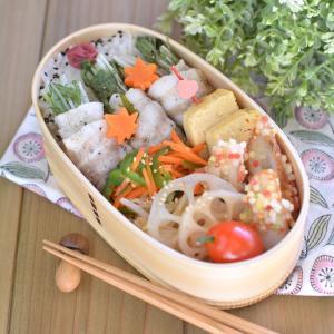 水菜の豚バラ巻き弁当