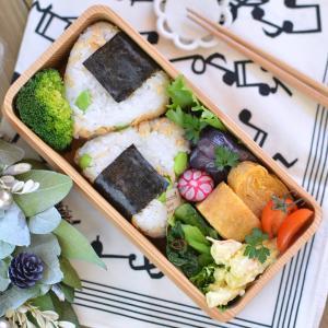 鮭と枝豆のおにぎり弁当