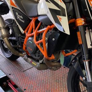 KTM 690 DUKE 車検準備  なこと