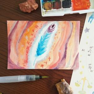 『「青い鳥の羽」「ラピスラズリ」このワードに鳥肌が立ちました。』アートご感想