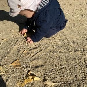 御影公園で砂あそび