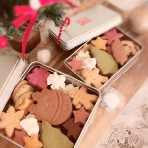 クリスマスクッキー缶限定販売します