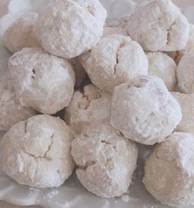 スノーボール☆片栗粉でお菓子作り
