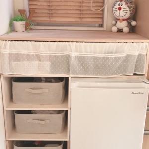 冷凍庫の置き場所☆板を置くだけDIYふたたび!