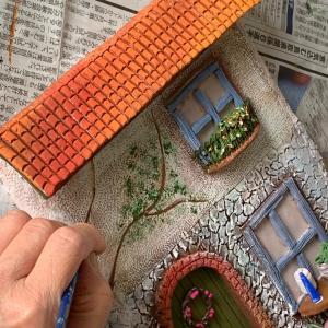 造詣2 壁にペイントした家の壁面デザイン