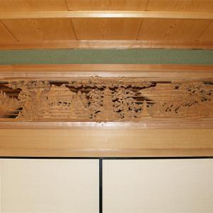【欄間納品】『6尺欅 加賀八景』納品