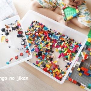 【レゴ収納の見直し】色分け収納からザックリ収納へ変更。無印のポリプロピレン収納ボックスがちょうどよい大きさでした!
