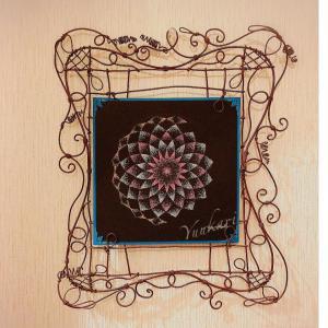 集中しました~。天と点を置く。点描曼荼羅体験に行ってきました。