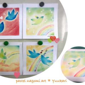 平和を運んでくれる幸せの鳥~パステル和アート