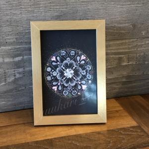 点と点が結ばれたハートな曼荼羅/曼陀羅アート  体験してきました♪