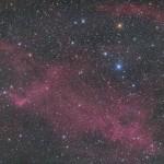 ここどこ?赤い星雲を撮ってみた