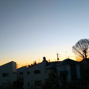 最低気温マイナス5℃の八王子から朝焼け