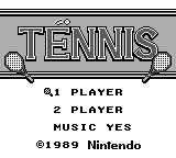 【38本目】 テニス(ゲームボーイ)