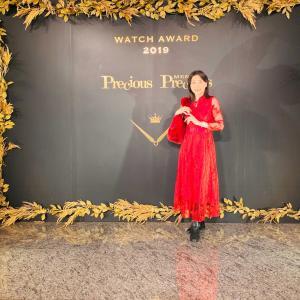 先日のパーティーコーデ〜冬らしい赤のロングワンピ