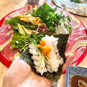 おうちごはんは手巻き寿司☆
