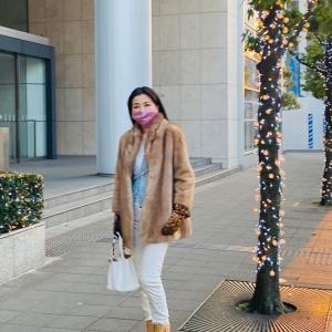 先日のコーデ〜上海蟹ディナーへ