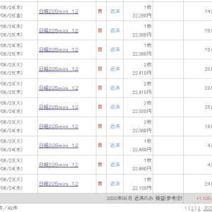 6月利益は 110万円でした & 今年は日経225で  +4,696,319円 の確定益です! 本当だよ♪