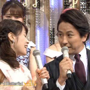 片山千恵子アナ 脇からインナーチラ見え!