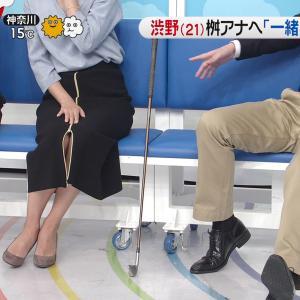 徳島えりかアナ スリットとニット乳!
