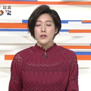上原光紀アナ シースルー!