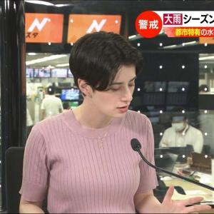 ホラン千秋(Nスタキャスター) ニット乳!
