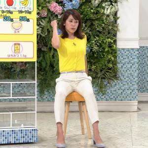 中川安奈アナ ピタパンのエクササイズで、スジる!!【GIF動画あり】