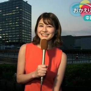 NHKの巨乳お天気お姉さん ノースリーブを連発!