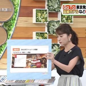 日比麻音子アナ ゆるゆるの脇からインナーチラ見え!