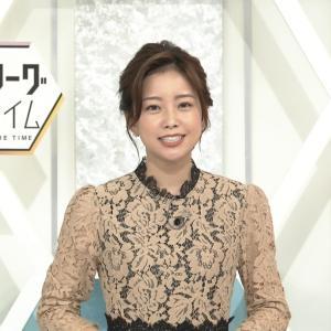 中川絵美里アナ シースルー & 肩紐チラ!