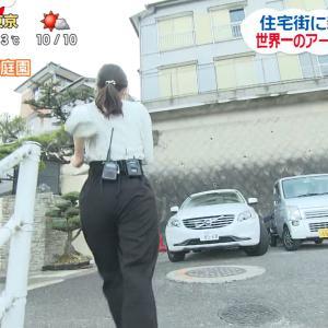 長崎の女子アナ(25) 階段を駆け上がってお尻にパン線が食い込む!!【GIF動画あり】