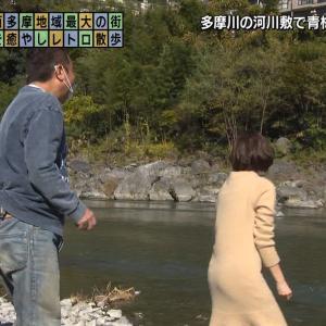 田中瞳アナ ワンピースのお尻にパン線が浮き出る!!【GIF動画あり】