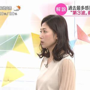 桑子真帆アナの横乳!【GIF動画あり】
