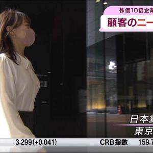 片渕茜アナ 巨乳の横乳アングル!!【GIF動画あり】