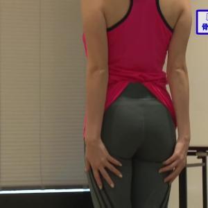 三谷紬アナ 「骨格診断」で巨乳やお尻をじっくりと観察される!!