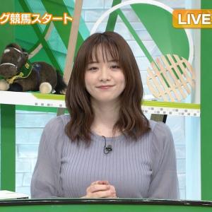 森香澄アナ ニットの巨乳 & ミニスカ▼ゾーン!!