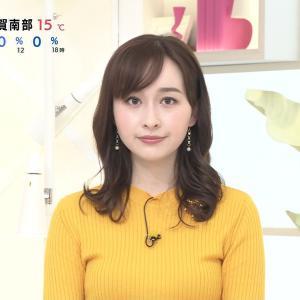 宇賀神メグアナ ニット & シースルー!