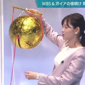 田中瞳アナ ニットの豊乳、横乳!!【GIF動画あり】